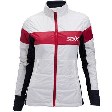 Picture of SWIX CROSS COUNTRY SKI JACKET SURMOUNT PRIMALOFT WHITE FOR WOMEN
