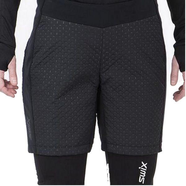 Picture of SWIX CROSS COUNTRY SKI PANT SHORT MENALI ULTRA QUILTED BLACK FOR WOMEN