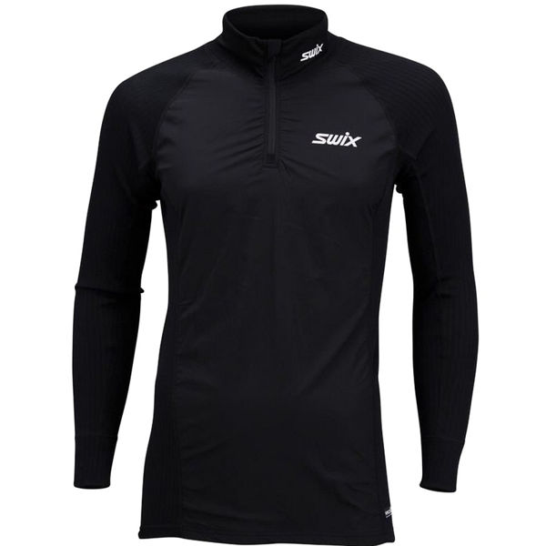 Picture of SWIX ALPINE SKI SWEATER RACEX BODYWEAR HALFZIP WIND BLACK FOR MEN