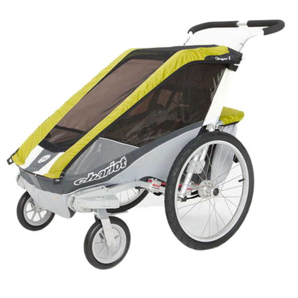 Picture of THULE CHILD CARRIER COUGAR 1 AND STROLLING KIT AVOCADO/SILVER