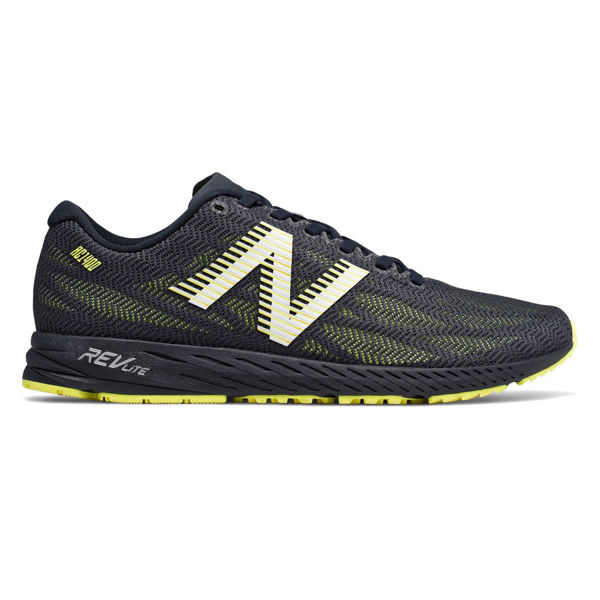 Picture of NEW BALANCE ROAD RUNNING SHOES M1400 V6 D BLACK/LIME FOR MEN