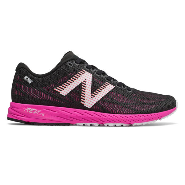 Picture of NEW BALANCE ROAD RUNNING SHOES W1400 V6 B BLACK/PINK FOR WOMEN