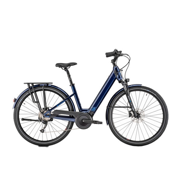Picture of MOUSTACHE ELECTRIC BIKE SAMEDI 28.2 OPEN 500W BLUE 2020