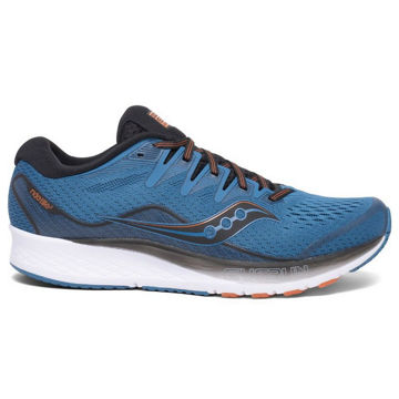 Picture of SAUCONY ROAD RUNNING SHOES RIDE ISO 2 MEN BLACK/BLUE FOR MEN