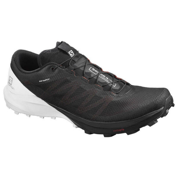 Picture of SALOMON ROAD RUNNING SHOES SENSE 4 PRO BLACK/WHITE FOR MEN