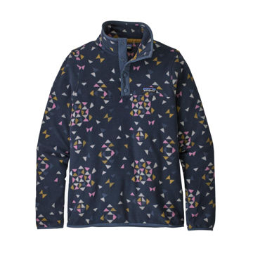 Picture of PATAGONIA ALPINE SKI SWEATERS MICRO D SNAP-T FLEECE PULLOVER QUILTY BIG: NEW NAVY FOR WOMEN
