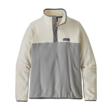 Picture of PATAGONIA ALPINE SKI SWEATERS MICRO D SNAP-T FLEECE PULLOVER DRIFTER GREY W/WHITE WASH FOR WOMEN