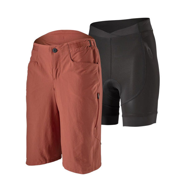 Picture of PATAGONIA SHORTS WITH CHAMOIS DIRT CRAFT SPANISH RED FOR WOMEN