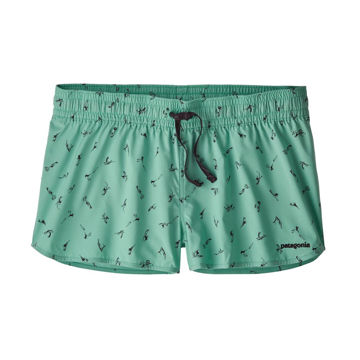"Picture of PATAGONIA RUNNING SHORT STRETCH PLANING MICRO 2"" SURFERS: LIGHT BERYL GREEN FOR WOMEN"