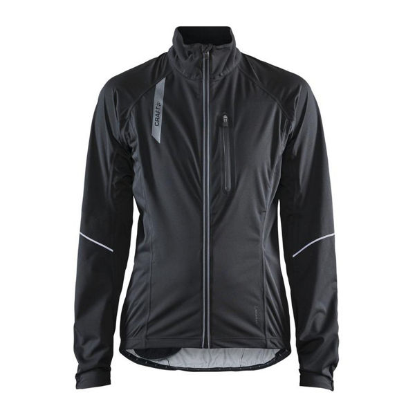 Picture of CRAFT BIKE JACKET STRIDE RAIN BLACK FOR WOMEN