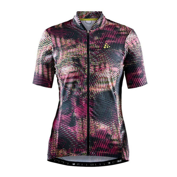 Picture of CRAFT BIKE JERSEY HALE GRAPHIC FAME/VENOM FOR WOMEN