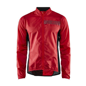 Picture of CRAFT BIKE JACKETS ESSENCE LIGHT WIND BRIGHT/RED FOR MEN