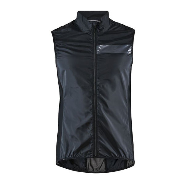Picture of CRAFT BIKE JACKETS ESSENCE LIGHT WIND VEST BLACK FOR MEN