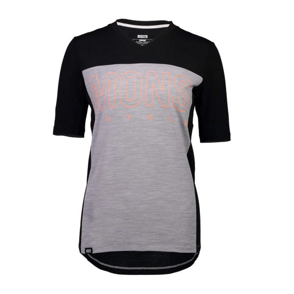 Picture of MONS ROYALE BIKE JERSEY PHOENIX ENDURO VT BLACK/GREY MARL FOR WOMEN