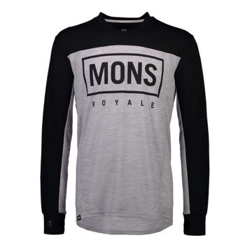 Picture of MONS ROYALE BIKE JERSEY REDWOOD ENDURO VLS BLACK/GREY MARL FOR MEN