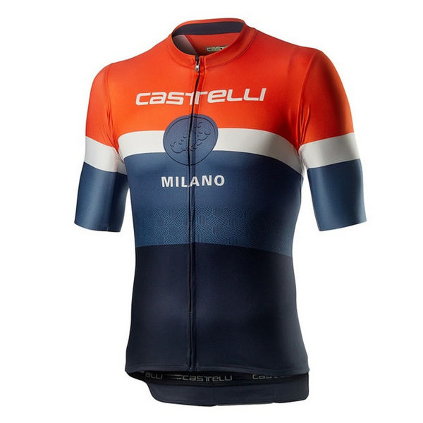 Picture of CASTELLI BIKE JERSEY MILANO DARK STEEL BLUE FOR MEN