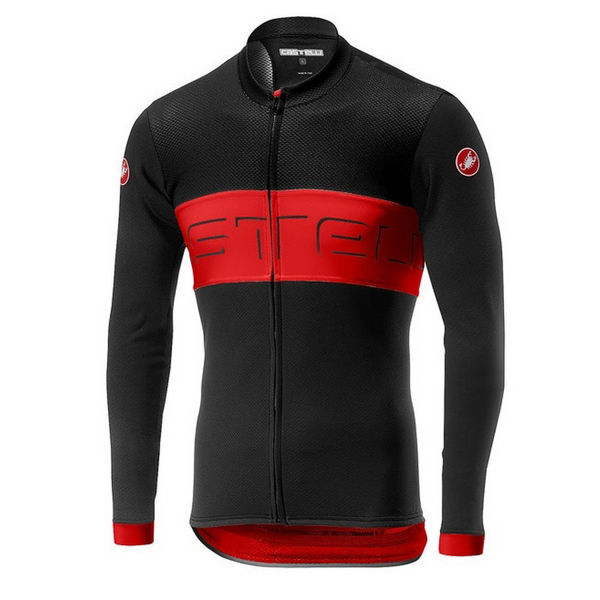 Picture of CASTELLI BIKE JERSEY PROLOGO VI BLACK/RED/BLACK FOR MEN