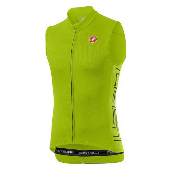 Picture of CASTELLI BIKE JERSEY ENTRATA V SLEEVELESS CHARTREUSE FOR MEN