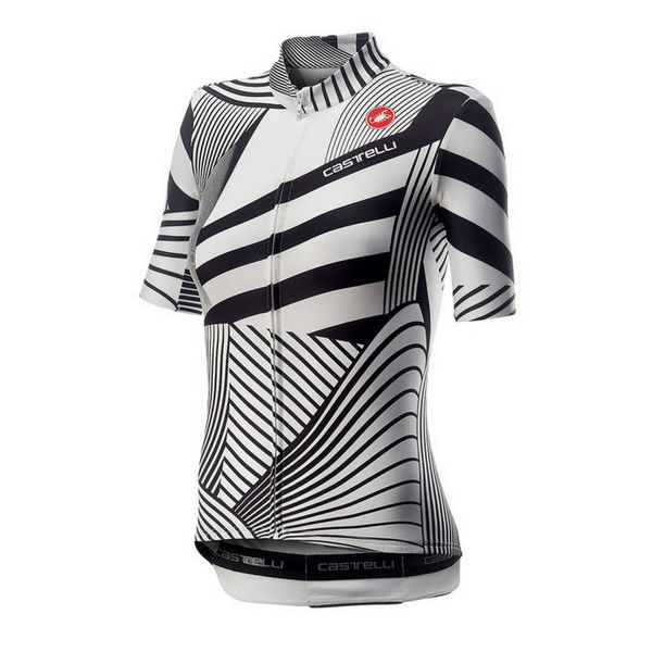 Picture of CASTELLI BIKE JERSEY SUBLIME WHITE/BLACK FOR WOMEN