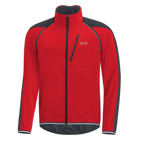 Picture of GORE BIKE JACKETS C3 GORE WINDSTOPPER PHANTOM ZIP-OFF BLACK/RED FOR MEN