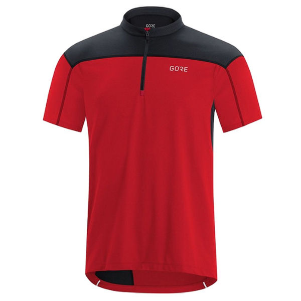 Picture of GORE BIKE JERSEY C3 ZIP RED/BLACK FOR MEN