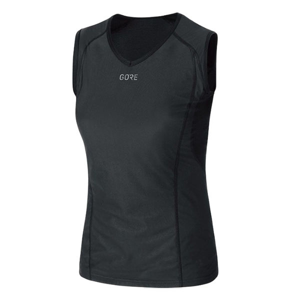 Picture of GORE BIKE JERSEY WINDSTOPPER SLEEVELESS BLACK FOR WOMEN
