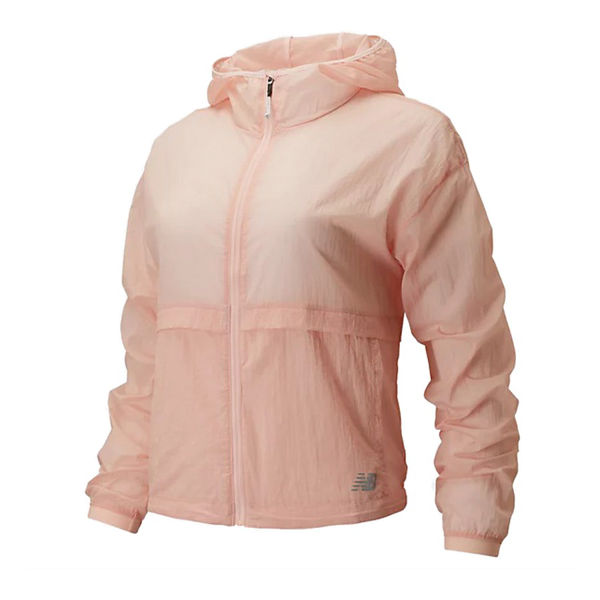 Picture of NEW BALANCE RUNNING JACKET IMPACT RUN LIGHT PACK PEACH SODA FOR WOMEN