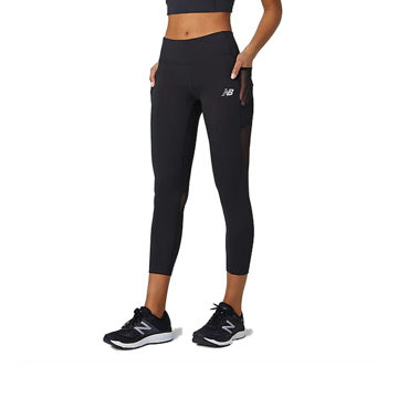 Picture of NEW BALANCE LEGGING IMPACT RUN CROP BLACK FOR WOMEN