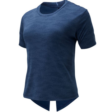 Picture of NEW BALANCE RUNNING JERSEY Q SPEED JACQUARD NATURAL INDIGO HEATHER FOR WOMEN