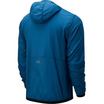 Image de MANTEAU DE COURSE NEW BALANCE IMPACT RUN LIGHT PACK JACKET MAKO BLUE POUR HOMME
