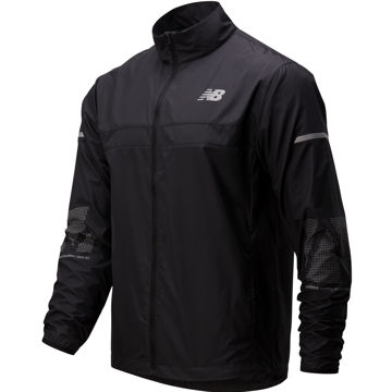 Picture of NEW BALANCE RUNNING JACKET REFLECTIVE ACCELERATE BLACK FOR MEN