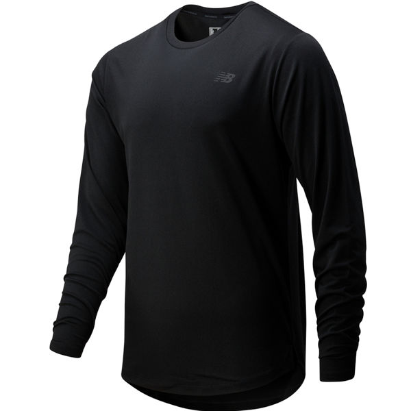 Picture of NEW BALANCE RUNNING JERSEY FORTITECH LONG SLEEVE BLACK FOR MEN
