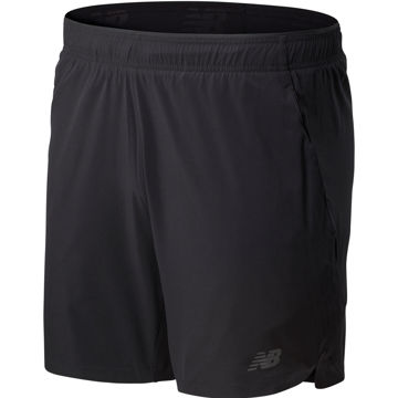 Picture of NEW BALANCE RUNNING SHORT FORTITECH 7IN 2IN1 SHORT BLACK FOR MEN