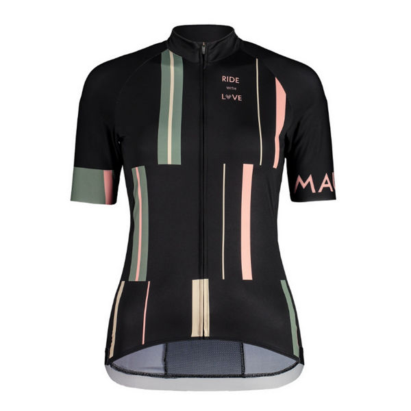 Picture of MALOJA BIKE JERSEY PURA MOONLESS STRIPE FOR WOMEN