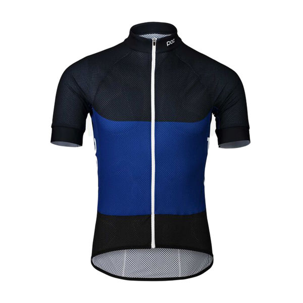 Picture of POC BIKE JERSEY ESSENTIAL ROAD LIGHT AZURITE MULTI BLUE FOR MEN
