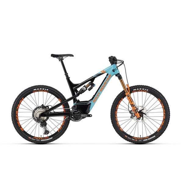 Picture of ROCKY MOUNTAIN ELECTRIC BIKE ALTITUDE POWERPLAY CARBON 90 RALLY EDITION BLUE/ORANGE 2020