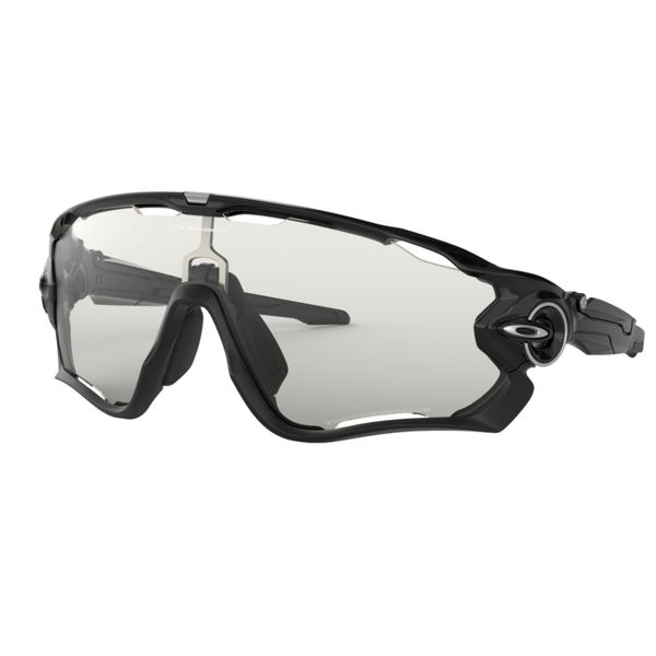 Image sur LUNETTES OAKLEY JAWBREAKER POLISHED BLACK/CLEAR PHOTOCHROMIC