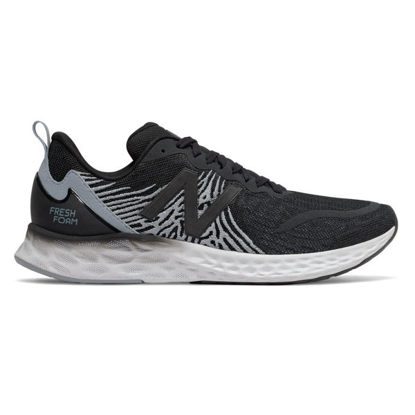 Picture of NEW BALANCE ROAD RUNNING SHOES FRESH FOAM TEMPO BLACK WITH LEAD & SUMMER FOG FOR MEN