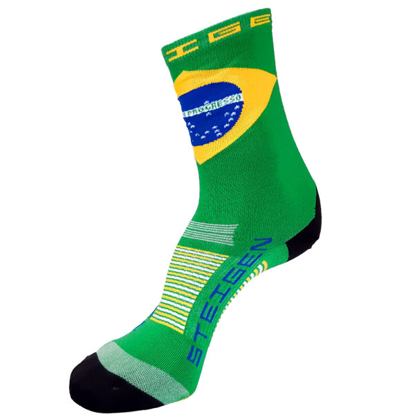 Picture of STEIGEN SOCKS 3/4 BRAZIL GREEN