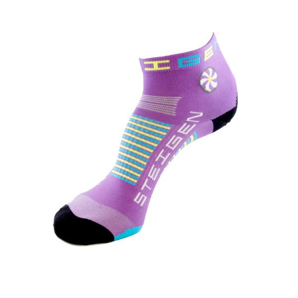 Picture of STEIGEN SOCKS 1/4 LENGTH BUBBLEGUM PURPLE