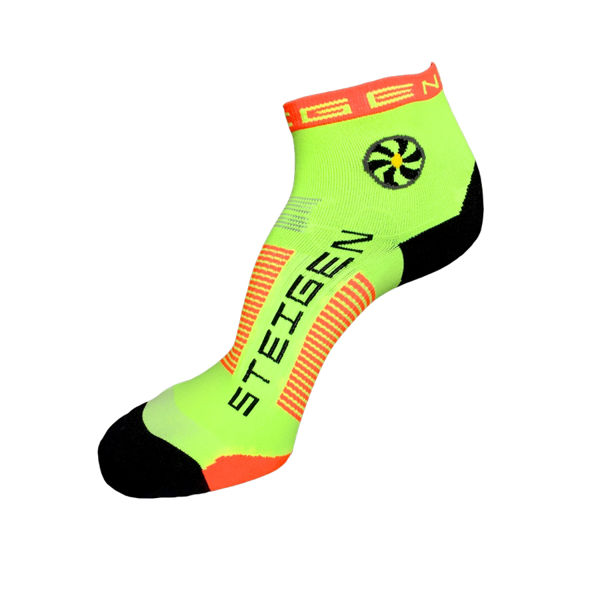Picture of STEIGEN SOCKS 1/4 LENGTH FLURO YELLOW