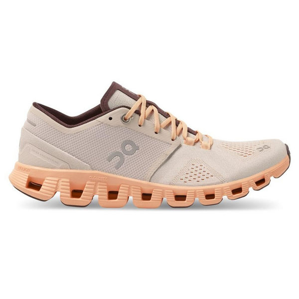 Picture of ON ROAD RUNNING SHOES CLOUD X SILVER/ALMOND FOR WOMEN