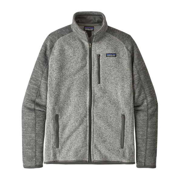 Image sur CHANDAIL DE SKI ALPIN PATAGONIA BETTER SWEATER FLEECE JACKET NICKEL W/FORGE GREY POUR HOMME