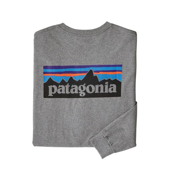 Picture of PATAGONIA ALPINE SKI SWEATER LONG-SLEEVED P-6 LOGO RESPONSIBILI-TEE GRAVEL HEATHER FOR MEN