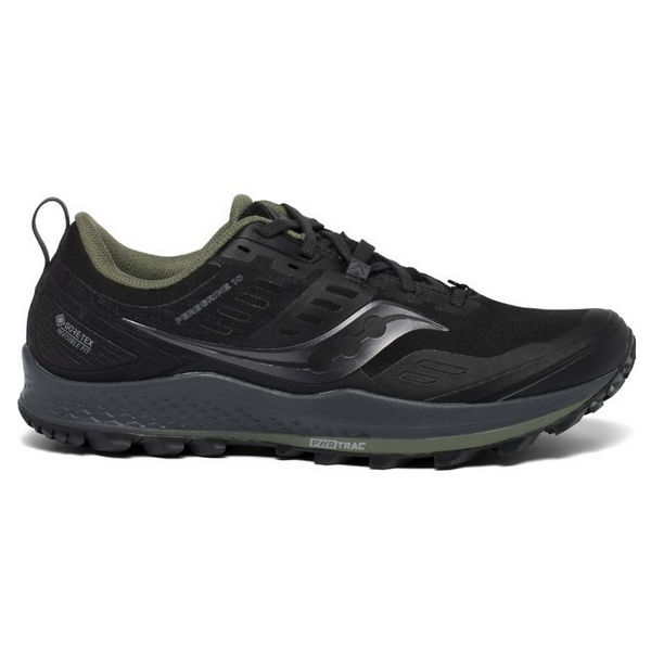Picture of SAUCONY TRAIL RUNNING SHOES PEREGRINE 10 GTX BLACK/PINE FOR MEN