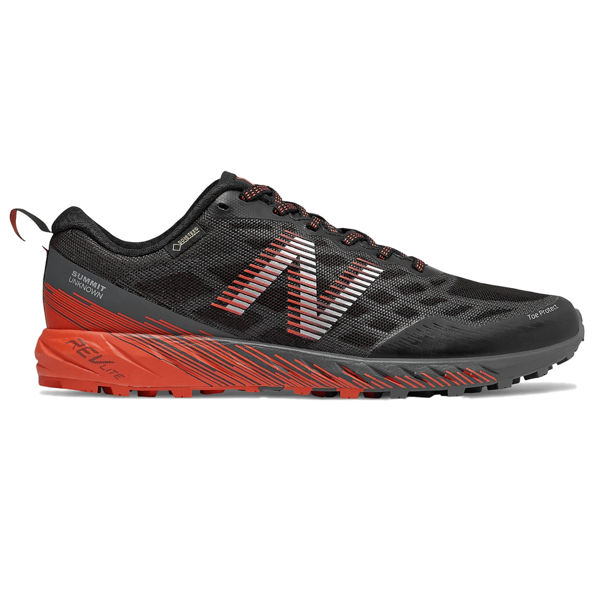 Picture of NEW BALANCE TRAIL RUNNING SHOES SUMMIT UNKNOWN GTX BLACK WITH LEAD AND CORAL GLOW FOR MEN