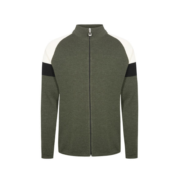 Image sur CHANDAIL DE SKI ALPIN DALE OF NORWAY GEILO MASC JACKET DARKGREEN OFFWHITE BLACK POUR HOMME