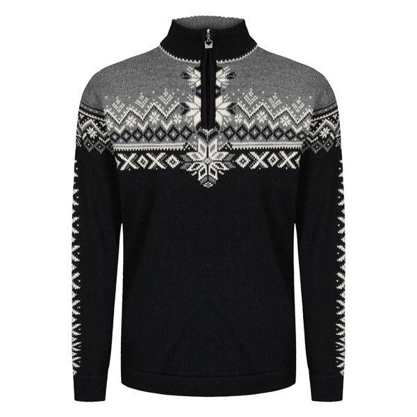 Image sur CHANDAIL DE SKI ALPIN DALE OF NORWAY 140TH ANNIVERSARY MASC SWEATER BLACK SMOKE OFFWHITE POUR HOMME