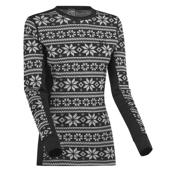 Picture of KARI TRAA ALPINE SKI SWEATERS KNUTE LS BLACK FOR WOMEN