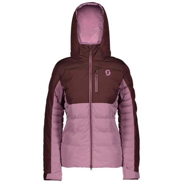 Picture of SCOTT ALPINE SKI JACKETS ULTIMATE DOWN RED FUDGE/CASSIS PINK FOR WOMEN